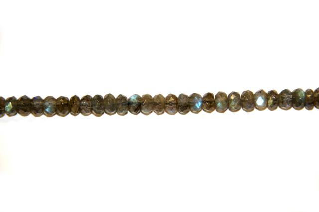 Labradorite (Shape: Disk faceted of 6x4 mm.)