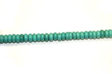 Turquoise sta. (Shape: Disk of 8x4 mm.)