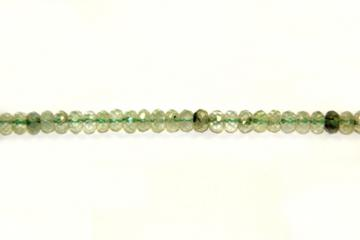 Granat green (Shape: Almond faceted of 6x4 mm.)