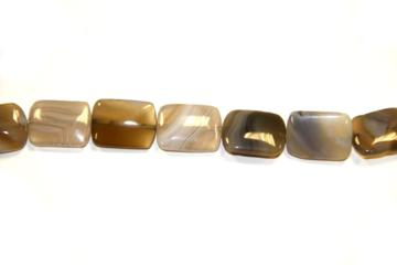 Agate botswana (Shape: Tablet of 13x18 mm.)