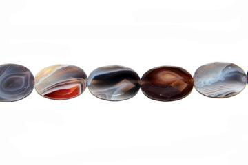 Agate botswana (Oval faceted of 30x22 mm.)