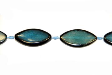 Agate blue (Shape: Leaf of 25x50 mm.)
