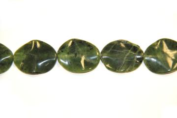 Jade canada (Shape: Oval waves of 25x30 mm.)
