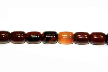 Agate band brown (Shape: Cylinder of 13x18 mm.)