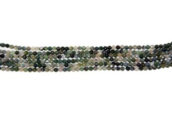 Agaye green jade faceted 4 mm.
