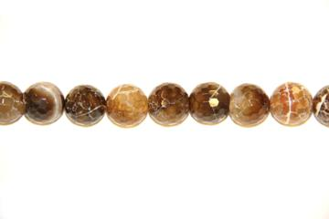 Agate brown crak (Ball faceted)